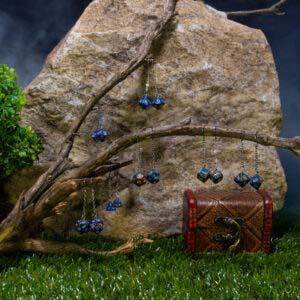 earrings blue brown nickel 00