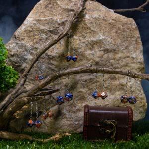 earrings blue orange 00