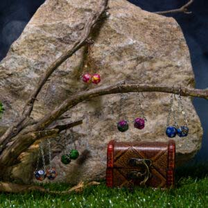 earrings double chain 00