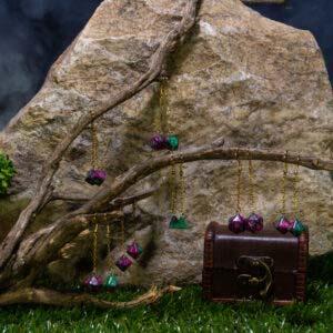 earrings green purple 00